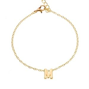 Jewelry - Letter M Initial Charm 14K Gold Bracelet